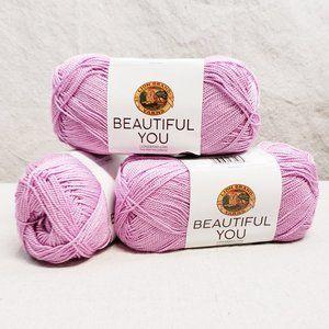 Lion Brand Beautiful You Yarn 3 Pack Lilac Chiffon